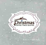 Christmas Coffee Table Quotes [Paperback] - Silver Cover Option