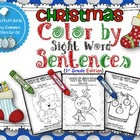 Christmas Color by Sight Word Sentences (1st Grade)