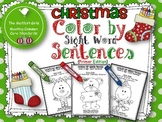Christmas Color by Sight Word Sentences (Primer Edition)