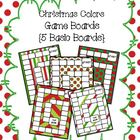 Christmas Colors Game Boards