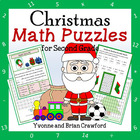 Christmas Common Core Math Puzzles - 2nd Grade