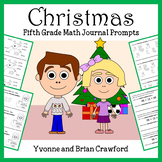 Christmas Common Core Mathbooking - Math Journal Prompts (