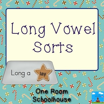 Christmas Cookie Bake Long Vowel Sorts