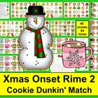 Christmas Literacy Centers Cookie Dunkin' Onset Rime Level 2
