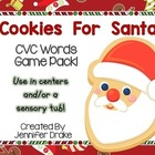 Christmas &#039;Cookie For Santa&#039; CVC Word Game/Center!  CC Ali