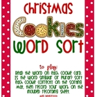 Christmas Cookies Plural and Singular Noun Sort
