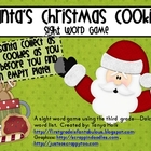 Christmas Cookies--Santa's 3rd Grade Dolch Sight Word Game