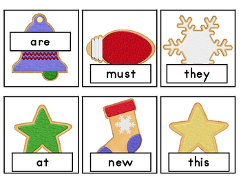 Christmas Cookies--Santa's Primer Dolch Sight Word Game