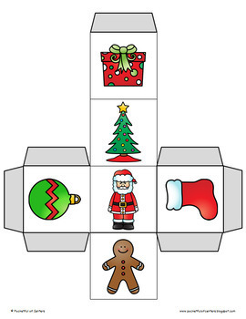 Christmas Cube Roll Printable Math Game