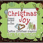 Christmas Digital Clip Art: Accents, Borders & Frames