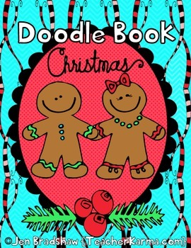 Christmas Doodle Coloring Book ~ Holiday Gift ~ Winter ART ~ Color