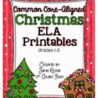 Christmas ELA Printables {Aligned to Common Core Standards}
