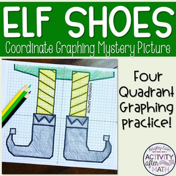 Christmas Elf Coordinate Graphing Ordered Pairs Activity for Middle School