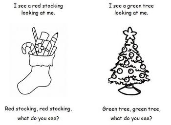 Christmas Emergent Reader - Santa, Santa, What Do You See?