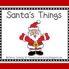 Christmas Emergent Reader - Santa&#039;s Things