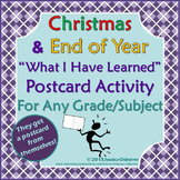 Christmas & End of Year: What I Have Learned Postcard Proj