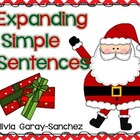Christmas Expanding Simple Sentences Task Cards
