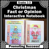 Christmas Fact and Opinion Interactive Notebook Printable
