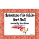 Christmas File Folder Word Wall
