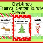 Christmas Fluency Center: Sentence Shuffle BUNDLE PACKET -