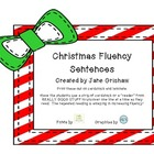 Christmas Fluency Fun Sentences
