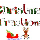 Christmas Fractions for Intermediate Grade