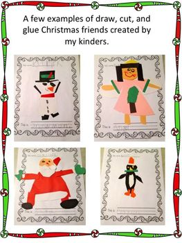 Christmas Friends Draw Write Read Literacy Fun Pack