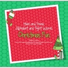 Christmas Fun Hide and Seek Alphabet and Sight Words Game