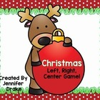 Christmas Game!  Candy Cane Left, Right, Center!  Great K-