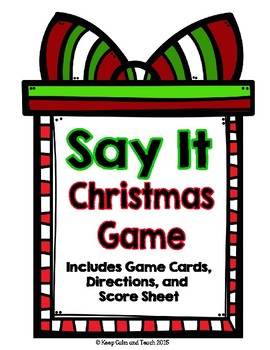 Christmas Game: Taboo for whole class or centers