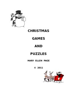 Christmas Games and Puzzles (English)