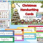 Christmas Handwriting Cards Center Activity Polka Dot Them