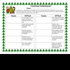 Christmas Holiday Cause and Effect practice activity hands-on