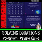 Christmas Holiday Equations Powerpoint Game