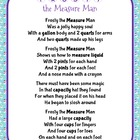 Christmas Holiday Frosty the Measure Man Song and Craft Ac