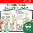 Christmas Holiday Packet! Ties in with Common Core Standards!