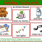 Christmas/ Holiday Picture Word Flashcards+HF Word Cards