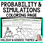 Christmas Holiday Probability and Simulations Coloring Page