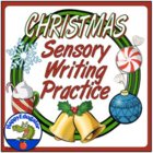 Christmas Holiday Sensory Writing Practice Worksheet