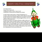 "Christmas Holiday Story ""Christmas Ornaments"" Reading Comp"
