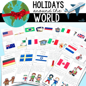 Christmas / Holidays Around the World Unit and Mini Books