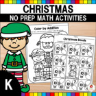 Christmas Kindergarten Math Worksheets (Common Core Aligned)