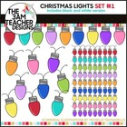 Christmas Lights: Clipart Set #1