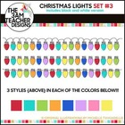 Christmas Lights: Clipart Set #3