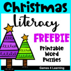 Christmas Literacy Puzzles Freebie