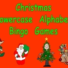 Christmas Lowercase Alphabet Bingo Games- Set of 3