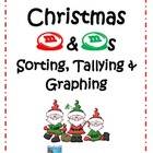 Christmas M&amp;M Sorting, Tallying &amp; Graphing Center