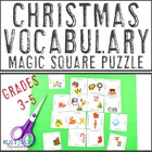 Christmas Magic Square Puzzle 3-6 FREEBIE