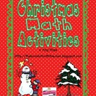 Christmas Math Activities Packet