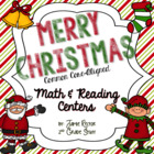 Christmas Math & ELA Centers - Aligned to Common Core Standards